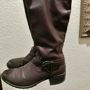 Brown Boots Knee High